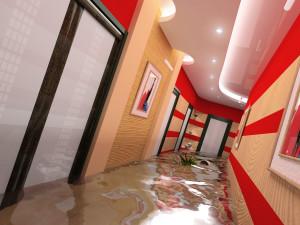 the flooding interior